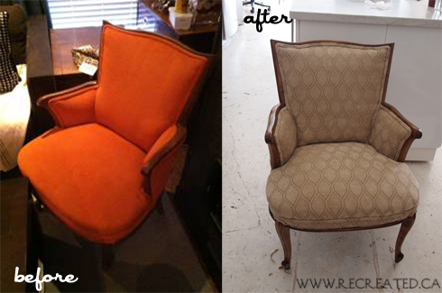 before and after Megan's Chairs