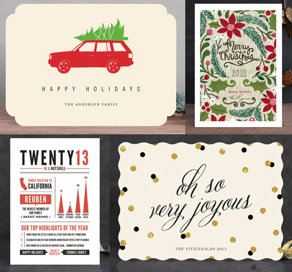 minted - no photo holiday cards