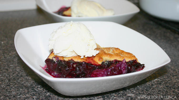 Blueberry Cornmeal Cobbler
