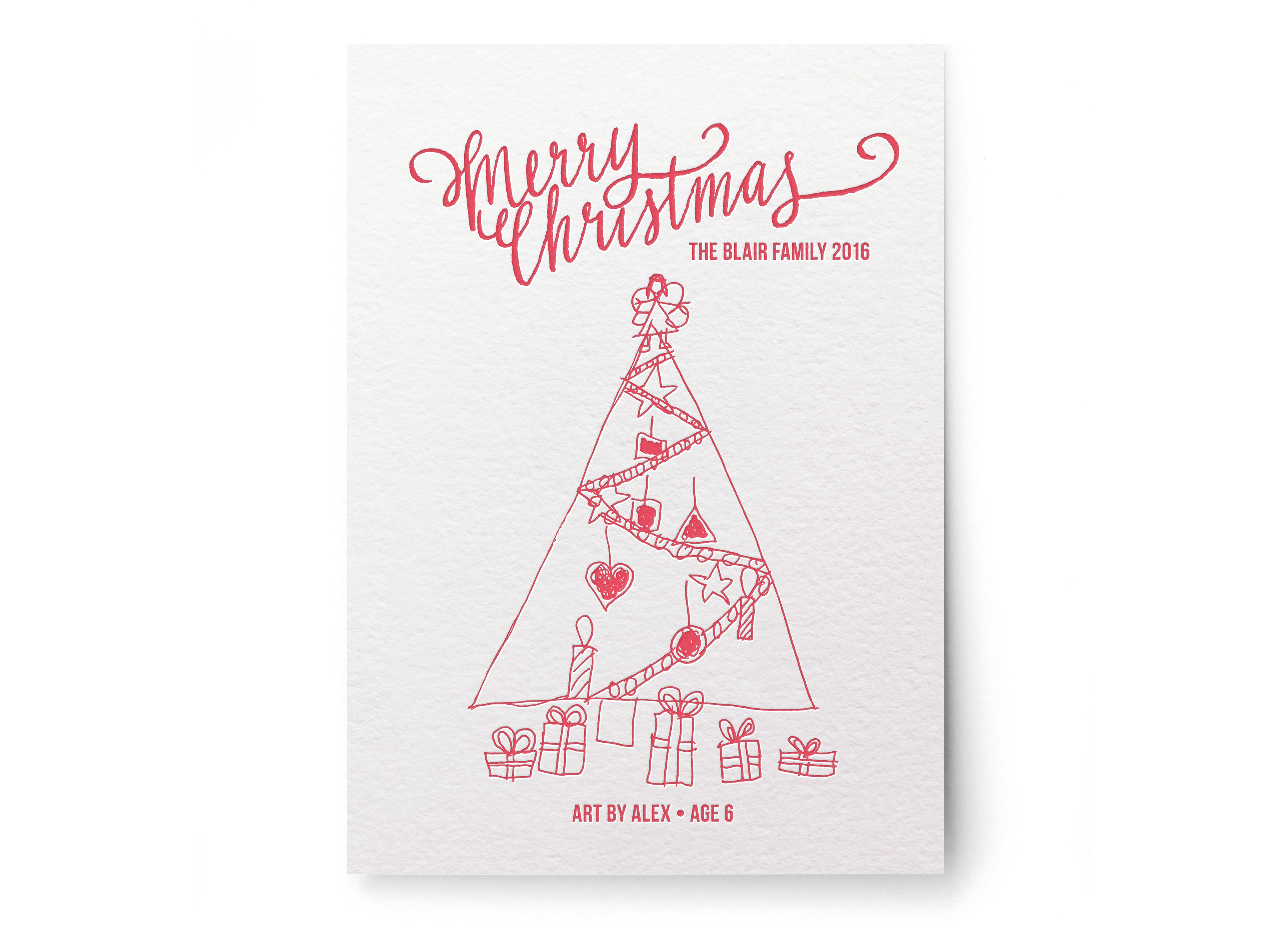 Minted Holiday Your Drawing as a Holiday Card - LP 2